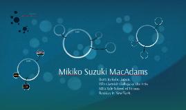 Mikiko Suzuki MacAdams