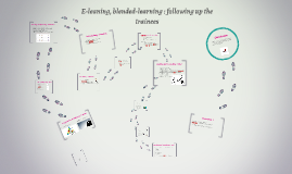 E-leaning, blended-learning : following up the trainees
