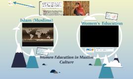 Women Education in Muslim Culture