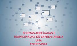 FORMAS ADECUADAS E INAPROPIADAS DE ENFRENTARSE A UNA