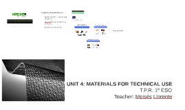 UNIT 2: MATERIALS FOR TECHNICAL USE