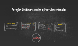 Copy of Arreglos Unidimensionales y Multidimensionales
