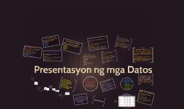 Presentasyon ng mga Datos