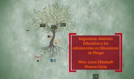 Copy of Asignatura: Atención Educativa a los adolescentes en Situaci