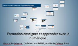 Formation enseigner et apprendre avec le numérique : formation de formateurs ST2S et biotechnologie