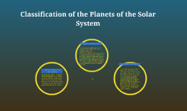Characteristics of the 8 Planets of the Solar System
