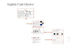 English I 2016 Unit I Review