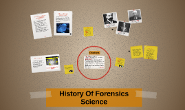 Copy of History Of Forensics Science
