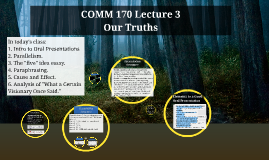 COMM 170 Lecture 3