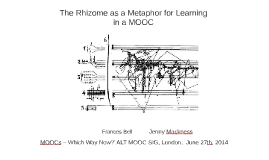 The Rhizome as a Metaphor for Learning in a MOOC