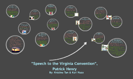 "Copy of ""Speech to the VIrginia Convention"", Patrick Henry"