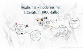 Realismer - modernismer: