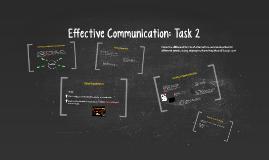 Effective Communcation: Task 2