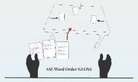 Copy of ASL Word Order/GLOSS