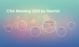 CSA Meeting 10/3 by Davriel