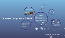Taiwanese Company in Vietnam