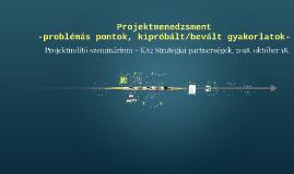 Projektmenedzsment - Ka2StratPart