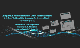 Using Corpus-based research to inform