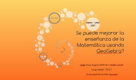 ¿Se puede mejorar la enseñanza de la Matemática usando GeoGe