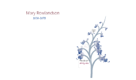 American Literature: Mary Rowlandson