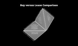 Buy versus Lease