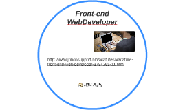 Front-end Web Developer