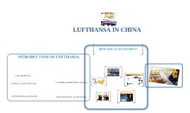 LUFTHANSA IN CHINA