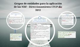 6 Grupos para aplicaciòn de NIIF