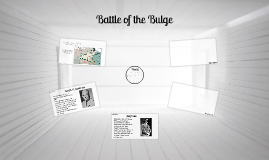 WWII - The Batle of the Bulge