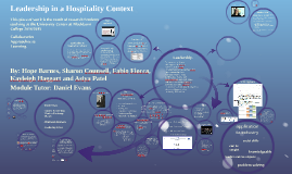 Copy of Leadership for the Hospitality Industry