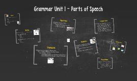 Grammar Unit 1 - Parts of Speech