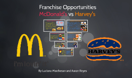 Franchise Opportunities - McDonald's vs Harvey's