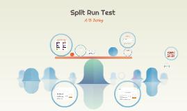 Split Run Test