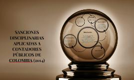 SANCIONES DISCIPLINARIAS APLICADAS A CONTADORES PUBLICOS DE