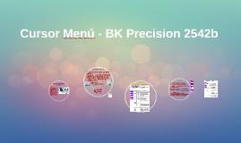 Cursor Menú - BK Precision 2542b