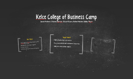 Kelce College of Business Camp