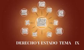 DERECHO Y ESTADO  TEMA    IX
