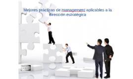 Mejores prácticas de management aplicables a la dirección es
