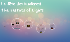 La fête des lumières/ The Festival of Lights