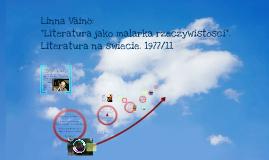 """Linna Väinö: """"Literatura jako malarka rzeczywistości"""""""