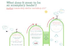 Hostos Leadership Winter Workshop - What is a leader?