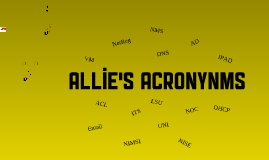 Allie's Acronyms