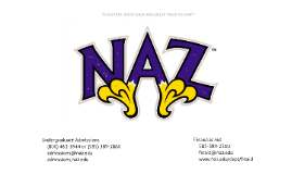 DRAFT NEW Jan 2014 Nazareth College Undergraduate Admissions Information Session