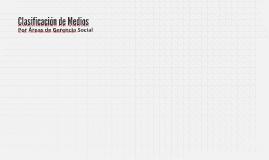 Clasificación según área de gerencia social