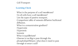 biology learning checks