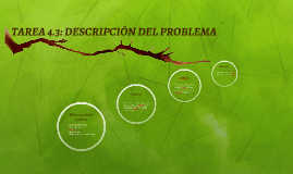 TAREA 4.3: DESCRIPCIÓN DEL PROBLEMA