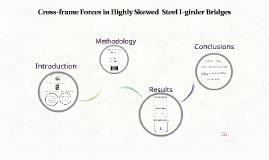 Cross-frame Forces in Skewed Steel I-girder Bridges