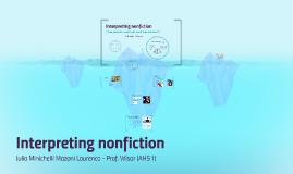 Interpreting nonfiction