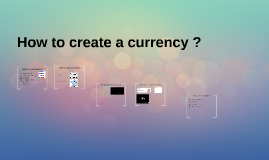 How to create a currency