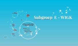 Subgroep  E